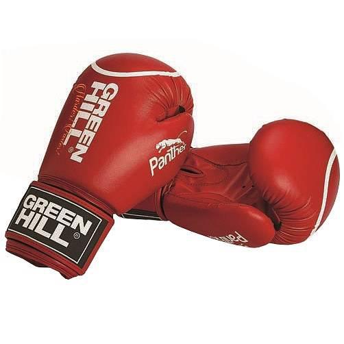 Боксерские перчатки Green Hill Panther, 12 oz Green HillБоксерские перчатки<br>Боксерские перчатки Panther.Верх сделан из искусственной кожи, вкладыш-предварительно сформированный пенополиуретан.Манжет на «липучке».В перчатках применяется технология Антинакаут.Перчатки применяются как для соревнований, так и для тренировок.<br>