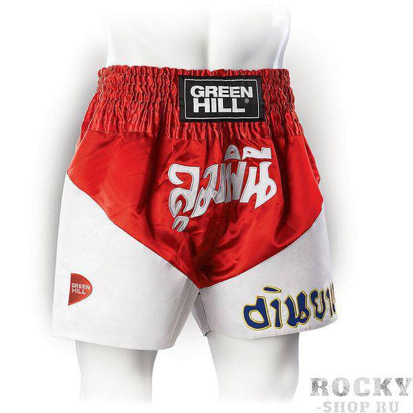Шорты для тайского бокса Green Hill VICTORY, Красные Green HillШорты для тайского бокса/кикбоксинга<br>Новинка от Green Hill. Современные яркие трусы для тайского бокса, в которых вы будете чувствовать себя королём ринга!Материал - атласный полиэстер.<br><br>Размер INT: M