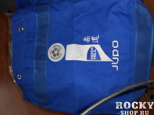 Спортивная сумка -мешок Дзюдо ALLY, знак IJF, Синий Green HillСпортивные сумки и рюкзаки<br>Спортивный мешок- рюкзак, с фирменной символикой Green Hill и эмблемой дзюдо. Мешок-рюкзак изготовлен из натурального хлопка, лямки из прочного полиэстера. Внутреннее отделение позволит вместить любого размера кимоно, а так же полезные мелочи. Цвет: синий. Размер: 50см Х 35см.<br><br>Цвет: Синий