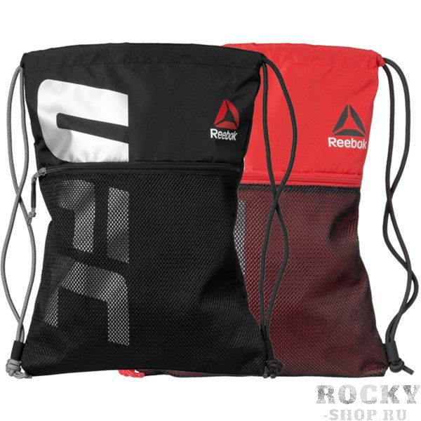 Сумка UFC Fan ReebokСпортивные сумки и рюкзаки<br>Сумка UFC Fan. Лёгкий спортивный мешок для переноски экипировки. Прекрасно послужит как для походов в спортзал, так и для поездок на отдых и в путешествиях. Отлично подойдет для переноски ги, обуви, одежды, перчаток. Удобный внутренний карман для мелочей. Сетчатый карман на молнии спереди. Верх сумки затягивается двумя контрастными шнурками. Габариты: 34 х 45 см, объем 10 л. Материал: 100% полиэстер.<br>