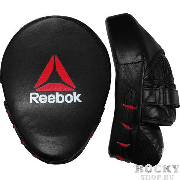 Боксёрские лапы Reebok ReebokЛапы и макивары<br>Боксёрские лапы Reebok. Продукция высочайшего! Внешняя обивка лап - натуральная кожа самого высокого уровня! Отлично сидят на руках. Внутренний наполнитель- пена, поглощающая энергию удара. Продаются парой.<br>