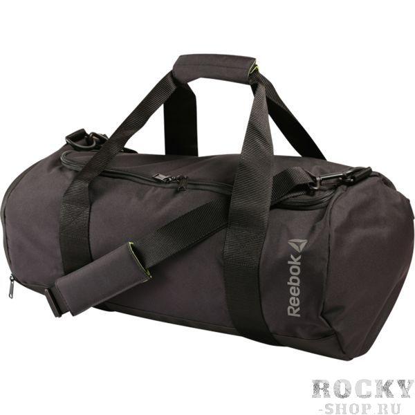 Сумка Reebok Cylinder ReebokСпортивные сумки и рюкзаки<br>Сумка Reebok Cylinder. Небольшая, но практичная и стильная спортивная сумка. Цилиндрический дизайн и просторное основное отделение. Съемный ремень для ношения на плече. Ручки для ношения в руке. Отделение для обуви позволяет эффективно организовать пространство. Стильный принт спереди. Габариты:50*22*22см. Материал: 100% полиэстер.<br>