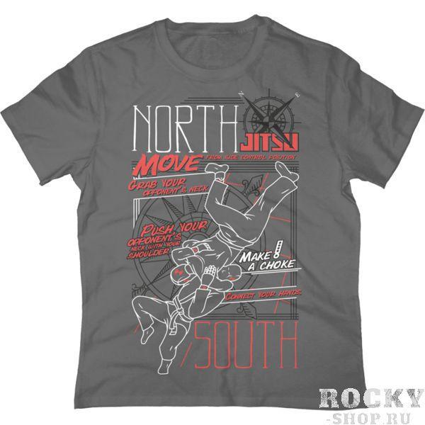 Футболка Jitsu North-South JitsuФутболки<br>Футболка Jitsu . Состав: 92% хлопок, 8% лайкра. Уход: машинная стирка в холодной воде, деликатный отжим, не отбеливать.<br><br>Размер INT: L