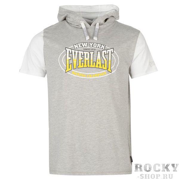 Футболка Everlast Mock Layer с капюшоном Grey EverlastФутболки / Майки / Поло<br>Футболка Everlast Mock Layer с капюшоном Grey.отлично подойдет для летнего сезона. Легкая футболка с капюшоном подойдет для занятий спортом на свежем воздухе и для повседневной носки.Состав:60% хлопок, 40% полиэстер.<br>