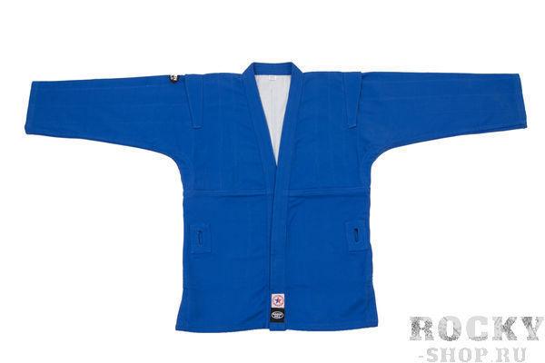 Детская куртка для самбо Green Hill, лицензия ФСР, Синяя Green HillДля самбо<br>Материал: ХлопокВиды спорта: СамбоКуртка для занятий самбо. Материал куртки 100% хлопок. Куртка изготовлена по всем требованиям федерации самбо РФ. При окраске применяется 100% природный краситель.<br><br>Размер: 140 см