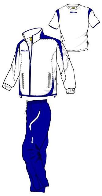 MIKASA MT143 0023 RAYON Костюм спортивный (ветровка, брюки, футболка) Mikasa