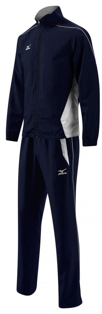 MIZUNO K2EG4A01 14  WOVEN TRACK SUIT 401 Костюм спортивный MizunoСпортивные костюмы<br>Спортивный костюм MIZUNO K2EG4A01 14 WOVEN TRACK SUIT 401 •Облегченный мужской спортивный костюм с «дышащей» подкладкой, сохраняющей тепло. •Куртка с высоким воротником и эластичными манжетами препятствует проникновению ветра. •Брюки свободного покроя с боковыми карманами и со шнуровкой на поясе для оптимальной посадки. •Молния внизу штанин для регулирования их ширины.<br><br>Размер INT: L