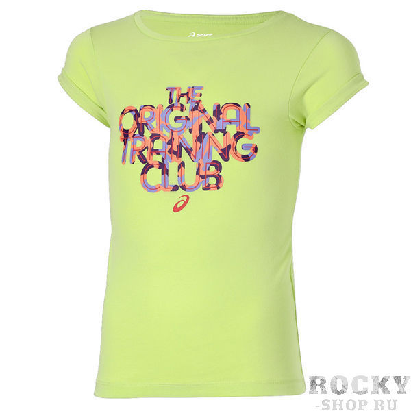 ASICS 130916 0423 GIRLS SS TOP JR 11/12 Футболка детская AsicsФутболки / Майки / Поло<br>Футболка ASICS 130916 0423 GIRLS SS TOP JR 11/12 (146-152)•Стильная, приятная на ощупь футболка от ASICS.•Привлекательный яркий принт «THE ORIGINAL TRAINING CLUB».•Комфортный дышащий хлопковый материал.•Свободная горловина позволит без проблем одеть футболку, не стесняя движений.•Футболка предназначена для ребенка в возрасте 11-12 лет или ростом 146-152 см.<br>