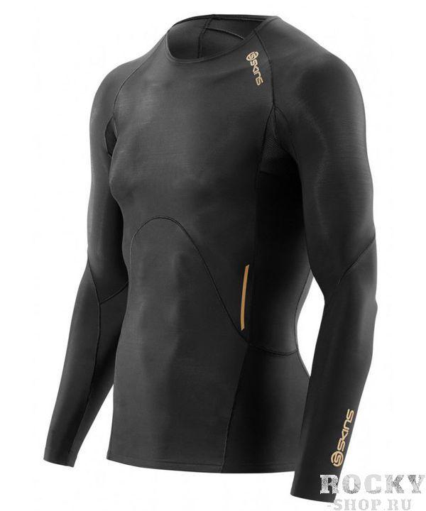 SKINS B32156005 A400 MENS GOLD TOP LONG SLEEVE Футболка с длинным рукавом  SkinsКомпрессионные штаны / шорты<br>B32156005 Футболка с длинным рукавом Skins A400 Mens Gold Top Long Sleeve<br><br>Размер INT: XL