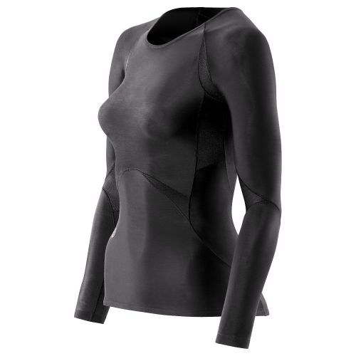 SKINS B48001005 BIO RY400 WOMENS BLACK TOP LONG SLEEVE Футболка беговая