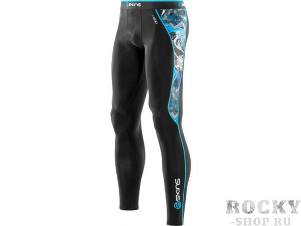 SKINS B60179001 BIO A200 MENS BLACK/GRAFFITI LONG TIGHTS Тайтсы  SkinsКомпрессионные штаны / шорты<br>B60179001 Тайтсы длинные Skins Bio A200 Mens Black/Graffiti Long Tights<br>