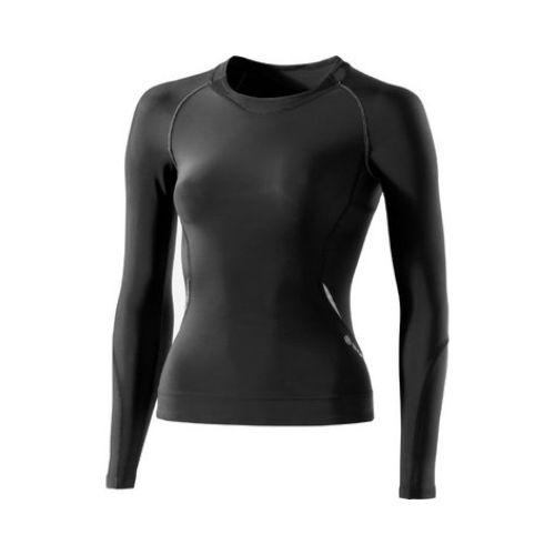 SKINS B61033005 A200 WOMENS TOP LONG SLEEVE Футболка с длинным рукавом  SkinsКомпрессионные штаны / шорты<br>B61033005 Футболка с длинным рукавом Skins A200 Womens Top Long Sleeve<br><br>Размер INT: L