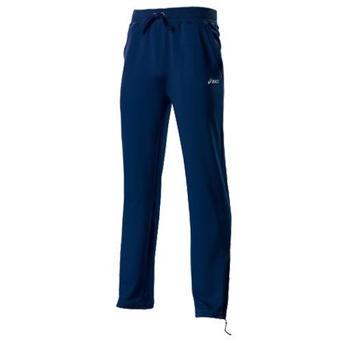 MS TRACK PANT Брюки AsicsСпортивные штаны и шорты<br>Спортивные брюки ASICS 421911 0891 M S TRACK PANT  •Мужские спортивные брюки Asics M S Track Pant – отличный вариант как для бега, так и для повседневной жизни.•Мягкий полиэстер с превосходными влагопоглощающими свойствами.•Боковые карманы для дополнительной функциональности.•Эластичный пояс с регулируемым шнуром обеспечивает надежную фиксацию.•Низ брючин на молниях для легкого доступа.•На левой стороне нанесен фирменный логотип Asics.<br>