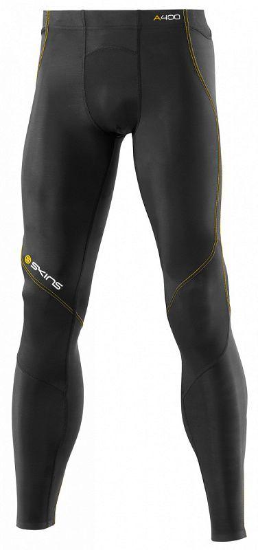 Купить Skins b40001001 a400 long tights (рост 1,90-2,10 +l) тайтсы (черный/желтый) (арт. 12316)