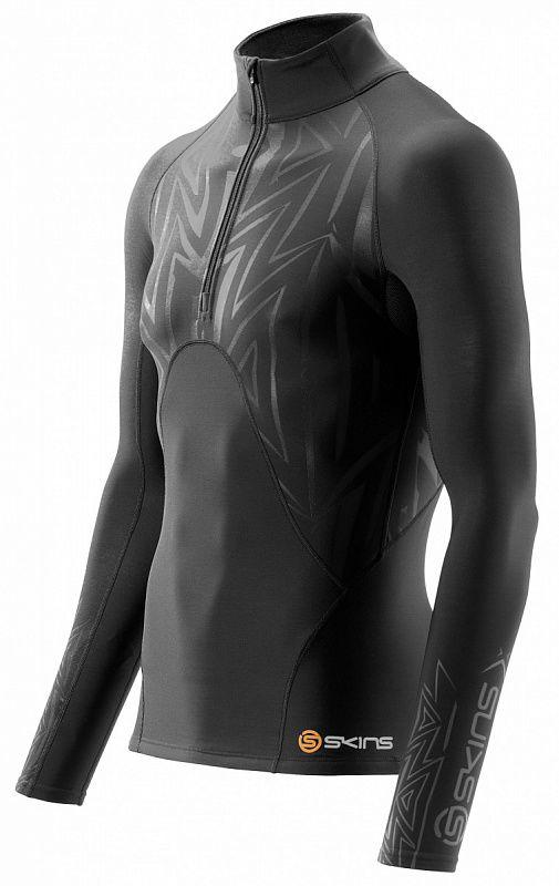 Skins b75001451 s400x 1/2 zip long sleeve top футболка с длинным рукавом (черный) SkinsКомпрессионные штаны / шорты<br>B75001451 Футболка на молнии с длинным рукавом Skins S400X 1/2 Zip Long Sleeve Top<br><br>Размер INT: XS
