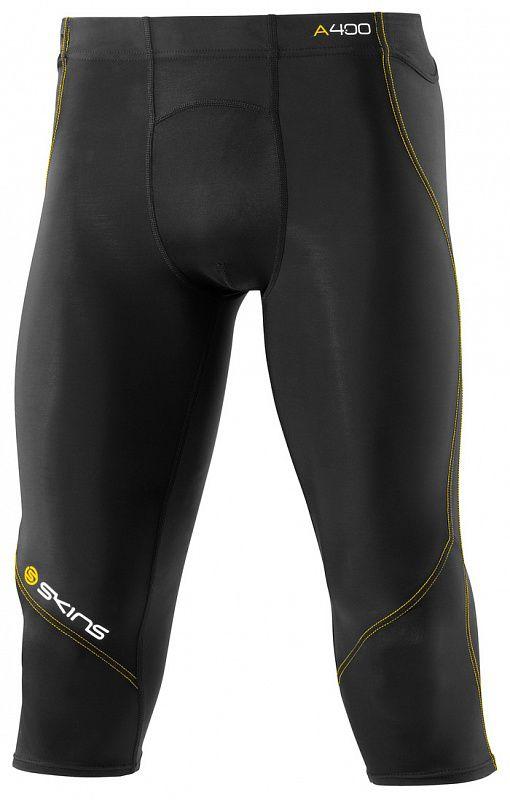 Купить Компрессионные штаны Skins a400 3/4 черно-желтые (арт. 12323)