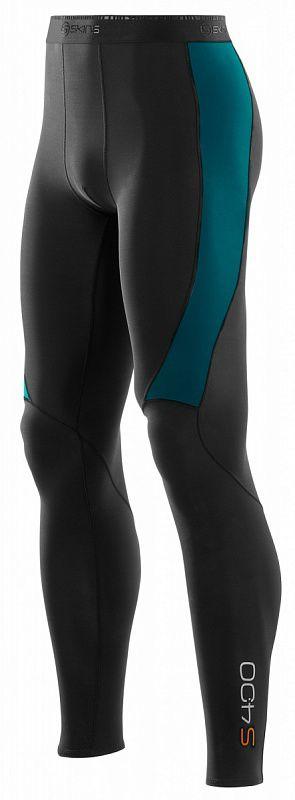 Купить Компрессионные штаны Skins s400 черный-бирюзовый (арт. 12331)