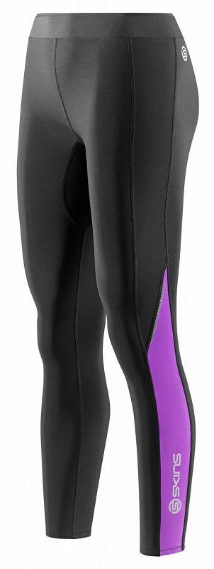 SKINS B61134111 BIO A200 WOMENS THERMAL LONG TIGHTS Тайтсы (черный/фиолетовый) SkinsКомпрессионные штаны / шорты<br>Комбинируя научно доказанную компрессионную технологию SKINS c&amp;nbsp;термо-свойствами ткани, эти тайтсы помогут вашим ногам работать лучше и&amp;nbsp;дольше. Улучшенное кровообращение означает, что лактат в&amp;nbsp;крови перерабатывается более эффективно. Специально разработанная градиентная компрессия SKINS поддерживает мышцы наилучшим образом, уменьшает их&amp;nbsp;вибрацию и&amp;nbsp;снижает риск получения травмы. Вся одежда серии A200 Thermal SKINS изготовлена из&amp;nbsp;современной технологичной ткани, сохраняющей тепло в&amp;nbsp;холодных условиях, но&amp;nbsp;при этом не&amp;nbsp;позволяющей телу перегреваться. Оптимальное соотношение волокон нейлона и&amp;nbsp;эластана обеспечивают отличное сопротивление к&amp;nbsp;истиранию и&amp;nbsp;пиллингу, трикотажная структура полотна обладает необходимой воздухопроницаемостью и&amp;nbsp;приятной для кожи фактурой. Флисовая внутренняя сторона сохраняет тепло при низких температурах. Использование волокон эластана обеспечивает отличные свойства к&amp;nbsp;растяжению и&amp;nbsp;сжатию для оптимальной компрессии без ущерба движений. Технологичная термо-ткань поддерживает оптимальную температуру для работы мышц не&amp;nbsp;зависимо от&amp;nbsp;погодных условий. Анатомический крой и&amp;nbsp;эластичные свойства материала обеспечивают отличную посадку на&amp;nbsp;фигуре и&amp;nbsp;не&amp;nbsp;ограничивают движения. В&amp;nbsp;длинных термо-тайтсах SKINS A200 используется профилированные внутренние швы, предотвращающие излишнее трение в&amp;nbsp;области коленей, вставка специальной формы для комфорта паховой области. Нижний край обработан надежным эластичным швом зиг-заг. &amp;nbsp;Предусмотрен маленький внутренний карман для ключей. Являетесь&amp;nbsp;ли вы&amp;nbsp;спортсменом или активным туристом, теперь холодная погода не&amp;nbsp;остановит вас в&amp;nbsp;пути.<br><br>Размер INT: XS