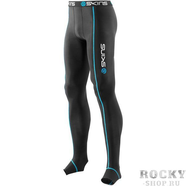 Купить SKINS B13001001 T&R BLACK LONG TIGHTS Тайтсы (черный) Skins