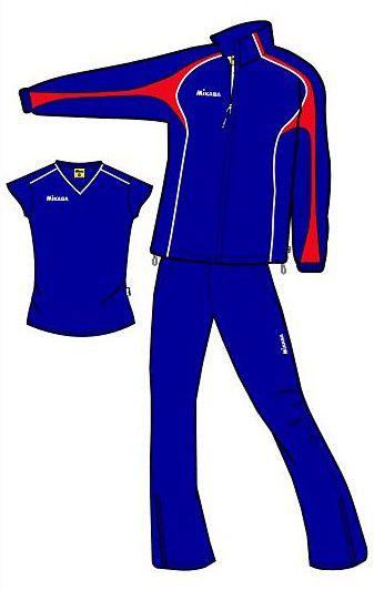 MIKASA MT147 0083 AURORA Костюм спортивный W (ветровка, брюки, футболка) Mikasa