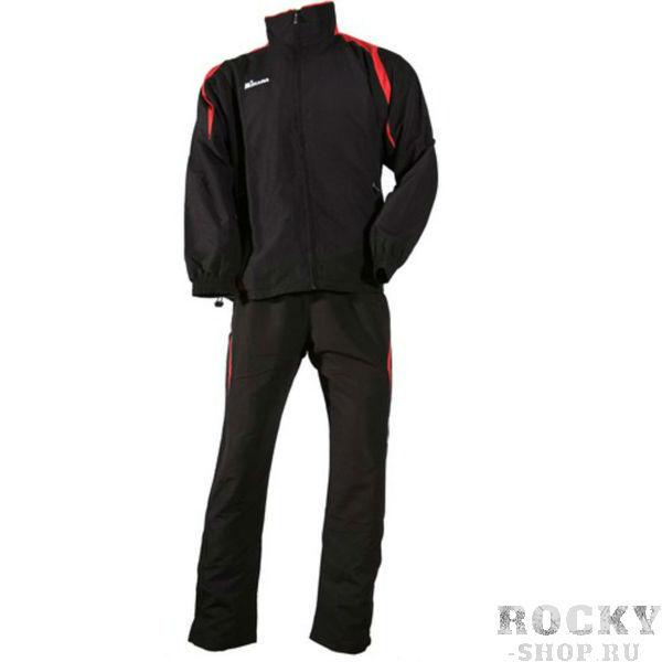 MIKASA MT143 0097 RAYON Костюм спортивный (ветровка, брюки, футболка) MikasaСпортивные костюмы<br>Спортивный костюм MIKASA MT143 0097 RAYON•Мужской спортивный костюм-тройка состоит из брюк, ветровки и футболки.•Костюм изготовлен из полиэстеровой микронити, которая обеспечивает отличную вентиляцию, что немаловажно при активных занятиях спортом, и при этом отлично защищает от ветра.•Ветровка имеет петлю для вешалки под воротником, молнию, сетчатую подкладку внутри, два кармана на уровне пояса, которые застегиваются на молнию.•Футболка имеет v-образный ворот и приталенный фасон.•Брюки имеют сетчатую подкладку, резинку на поясе, молнии снизу каждой штанины и завязки для дополнительного удобства.<br>