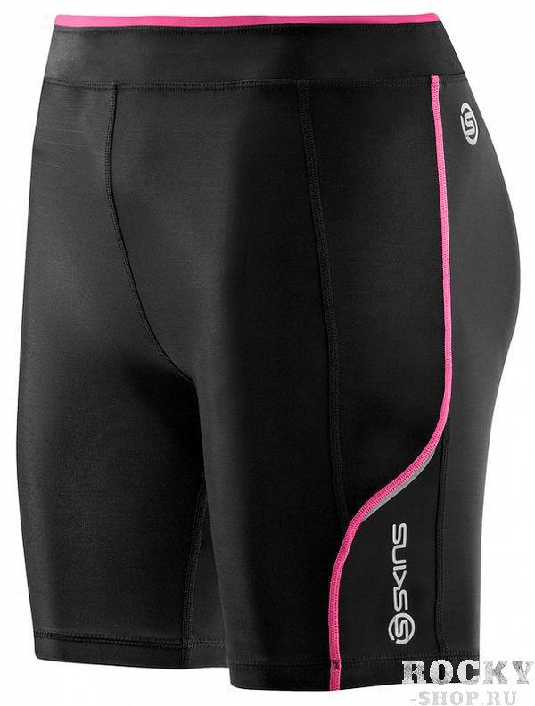 Купить Женские компрессионные шорты Skins a200 черный/розовый (арт. 12382)