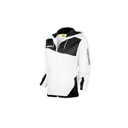 Mikasa mt754 0021 kimie куртка w MikasaТолстовки / Олимпийки<br>Куртка женская Mikasa KIMIE изготовлена из полиэстера. Застегивается на молнию, имеет капюшон, который регулируется шнурком, и манжеты на резинках, имеет вставки черного цвета и изображения логотипа бренда на левом рукаве и верхней правой части. Эта легкая куртка подойдет не только для занятий спортом, но и для повседневного использования.<br><br>Размер INT: L