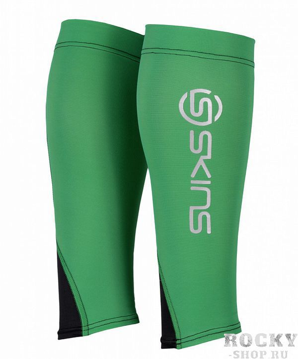 Компрессионные гетры Skins bioacc essentials calftights (зеленый/черный) (арт. 12472)  - купить со скидкой