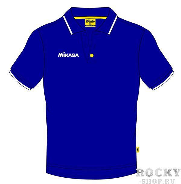 MIKASA MT174 0036 EIKO Поло  MikasaРубашки поло<br>Поло мужское MIKASA MT174 0036 темно-синего цвета изготовлено на 100% из хлопка. Имеет белую полоску на воротнике и рукавах, вырез застегивается на пуговицы. Будет отличным выбором как для тренировки, так и для повседневного использования. Справа на груди нашит логотип бренда.<br><br>Размер INT: L