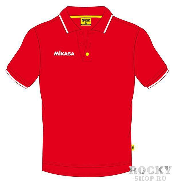 MIKASA MT174 0004 EIKO Поло  MikasaФутболки / Майки / Поло<br>Поло мужское MIKASA MT174 0004 красного цвета изготовлено на 100% из хлопка. Имеет белую полоску на воротнике и рукавах, вырез застегивается на пуговицы. Будет отличным выбором как для тренировки, так и для повседневного использования. Справа на груди нашит логотип бренда.<br>