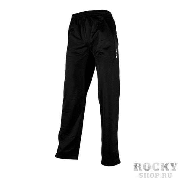 MIKASA MT151 0049 SAKAI Брюки MikasaСпортивные штаны и шорты<br>Мужские спортивные брюки MIKASA MT151 0049 SAKAI черного цвета изготовлены из полиэстера. Брюки имеют карманы. Пояс регулируется при помощи шнурка, на уровне левого бедра нашит логотип бренда белого цвета.<br>