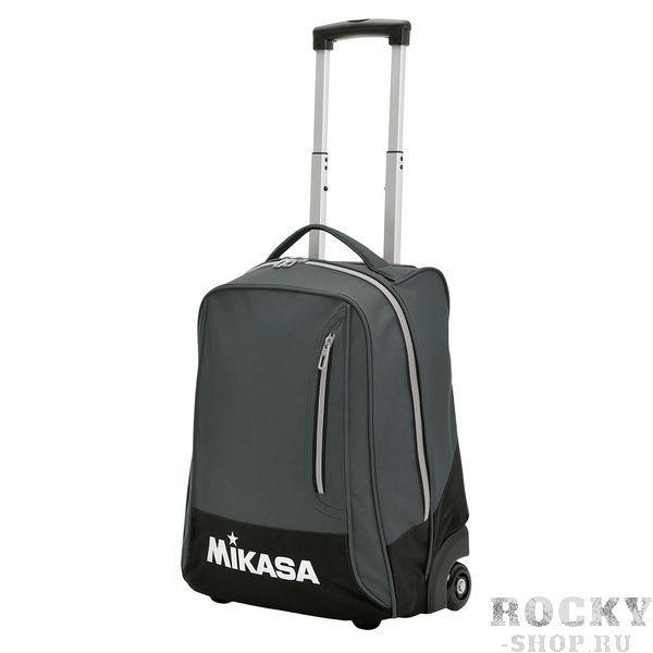 MIKASA MT75 0021 Сумка на колесиках MikasaСпортивные сумки и рюкзаки<br>Сумка на колесиках MIKASA MT75 0021 •Удобная сумка-рюкзак на колесах предназначена для поездок, а также для удобства спортсменов, которые любят сочетать активный отдых и спорт.•Сумка изготовлена из износоустойчивого материала, хорошо отстирывается и быстро сохнет.•Основное отделение на молнии по всей длине, что обеспечивает легкий доступ к содержимому.•Телескопическая ручка для комфортной перевозки и удобные боковые карманы.•Спереди имеется вместительный карман на молнии.•Колеса оснащены износостойкими шарикоподшипниками.•Размеры (Д х Ш х В): 37 x 24 x 50 см.<br>