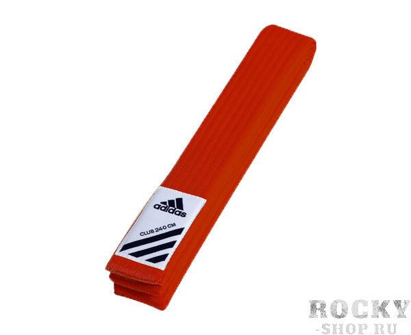 Детский пояс для единоборств Club, красный Adidas