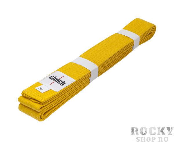 Купить Детский пояс для единоборств Clinch Budo Belt Gear желтый (арт. 12655)