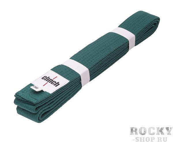 Детский пояс для единоборств Clinch Budo Belt, зеленый Clinch GearДля дзюдо<br>Пояс Clinch универсальный для единиборств Budo Belt . 100% хлопок, стойкое окрашивание, простроченный -8 строчек. Ширина 4,5 см, жесткий.<br><br>Размер: 260 см