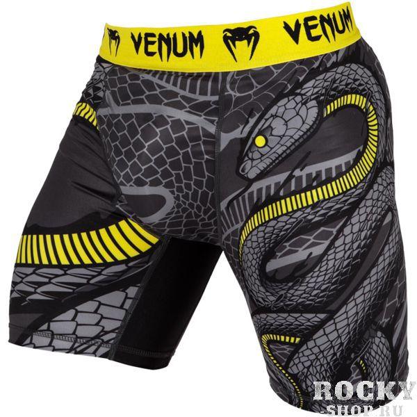 Компрессионные шорты Venum Snaker VenumКомпрессионные штаны / шорты<br>Компрессионные шорты Venum Snaker. Новые компрессионные шорты Venum созданы для грепплинга, мма (смешанных единоборств), кроссфита, бега, работой с железом. Компрессия шорт Venum способствует кровотоку, тем самым повышая мышечную производительность. Другим преимуществом шорт Venum является то, что он избавляет от мелких травм, таких как царапины, ссадины, ожоги. Также шорты защищают от микробов. Компрессионные шорты сделаны из смеси синтетических тканей. Такой материал очень прочен и долговечен, а также очень быстро сохнет, что позволит вам использовать шорты регулярно. Швы плоские, не натирают кожу. Компрессионные шорты Venum можно использовать как совместно со спортивными шортами, так и отдельно от них. Ткань очень приятная на ощупь. Так же необходимо отметить, что у шорт есть карман для ракушки (защиты паха). Уход: машинная стирка в холодной воде, деликатный отжим, не отбеливать. Состав: 100% полиэстер.<br><br>Размер INT: XXL