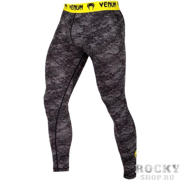Компрессионные штаны Venum Tramo VenumКомпрессионные штаны / шорты<br>Компрессионные штаны Venum Tramo. С этими компрессионками от Venum вы будете думать только о тренировочном процессе, не отвлекаясь на неприятные ощущения в мышцах ног. Предназначены для улучшения кровообращения в мышцах, что, в свою очередь, способствует уменьшению времени на восстановление полной работоспособности мышцы. Прекрасно сидят на любом теле, хорошо тянутся, абсолютно НЕ сковывают движения. Очень приятная на ощупь ткань. Штаны Venum достаточно быстро сохнут. Плоские швы не натирают кожу. Предназначены для занятий самыми различными единоборствами, кроссфитом, фитнесом, железным спортом и т. д. . Уход: Машинная стирка в холодной воде, деликатный отжим, не отбеливать.<br><br>Размер INT: L