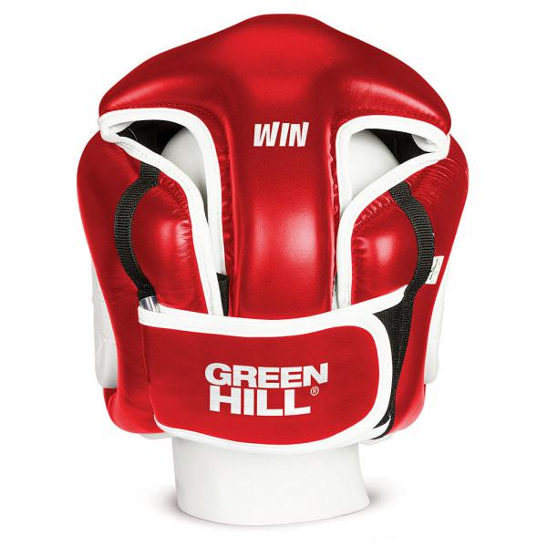 Шлем боксерский winning, Красный Green HillБоксерские шлемы<br>Шлем полной защиты подходит для всех видов контактных единоборств. Изготовлен из искусственной кожи в Пакистане. охват головы - размер46-48 см - XS48-53 см - S54-56 см - М57-60 см – L61-63 см - XL<br><br>Размер: Красный