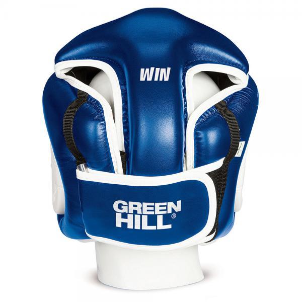 Шлем боксерский WINNING, Синий Green HillБоксерские шлемы<br>Шлем полной защиты подходит для всех видов контактных единоборств. Изготовлен из искусственной кожи в Пакистане. охват головы - размер46-48 см - XS48-53 см - S54-56 см - М57-60 см – L61-63 см - XL<br><br>Размер: XL