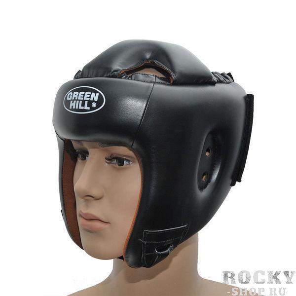 Шлем боксерский WINNING, Черный Green HillБоксерские шлемы<br>Шлем полной защиты подходит для всех видов контактных единоборств. Изготовлен из искусственной кожи в Пакистане. охват головы - размер46-48 см - XS48-53 см - S54-56 см - М57-60 см – L61-63 см - XL<br><br>Размер: XL