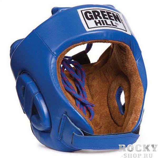 Боксерский шлем FIVE STAR , Синий Green HillБоксерские шлемы<br>Шлем Five star. Сделан из высококачественной натуральной кожи. Двойная система крепления (сверху и сзади), с фиксацией«липучкой» на подбородке, позволит максимально точно подогнать шлем по размеру. Отличный выбор не только для проведения соревновательных поединков, но и для тренировок. Размер:При подборе шлема следует также учесть, что размеры шлемов можно регулировать за счет специальных застежек. Для выбора шлемов, ориентируйтесь на следующие данные:охват головы - размер48-53 см - S54-56 см - М57-60 см – L61-63 см - XL<br><br>Размер: XL
