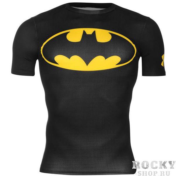 Рашгард Under Armour Batman Under ArmourРашгарды<br>Рашгард Under Armour Batman Этот рашгард  нужен тем, чей город находится в опасности. Обеспечит идеальной защитой от мелких травм и компрессией, что очень важно, так как каждый герой должен досрочно побеждать опонента, продемонстрировав свои кубики.Состав:84% - полиэстер, 16% - эластан<br>