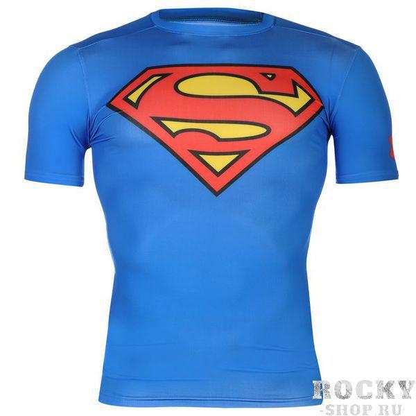 Рашгард Under Armour Superman Under ArmourРашгарды<br>Рашгард Under Armour SupermanБренд Under Armour является одним из родоначальников компрессионной одежды для тренировок. Модель Under Armour Superman посвящена, разумеется, одному из самых популярных героев комиксов вселенной DC - Супермену. Рашгард выполнен из ткани повышенной компрессии, что позволяет ему хорошо растягиваться, обеспечивать бесперерывный вывод пота, сохранять тепло тела и стягивать мышцы для предотвращения растяжений и мелких травм.  Почувствуй себя Суперменом, тренируясь в рашгарде Under Armour Superman!Состав:84% полиэстер, 16% эластан.<br>