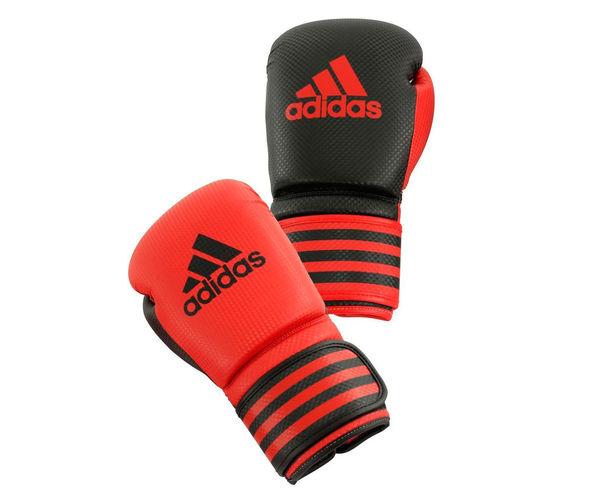 Купить Перчатки боксерские Power 200 Duo Mat красно-черные Adidas 12 унций (арт. 12872)