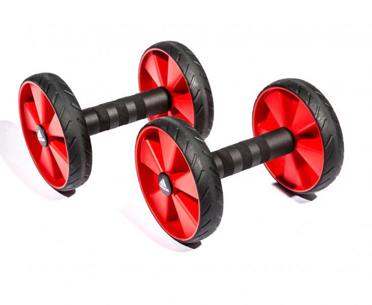 Купить Ролики для пресса Core Rollers черно-красные Adidas (арт. 12901)