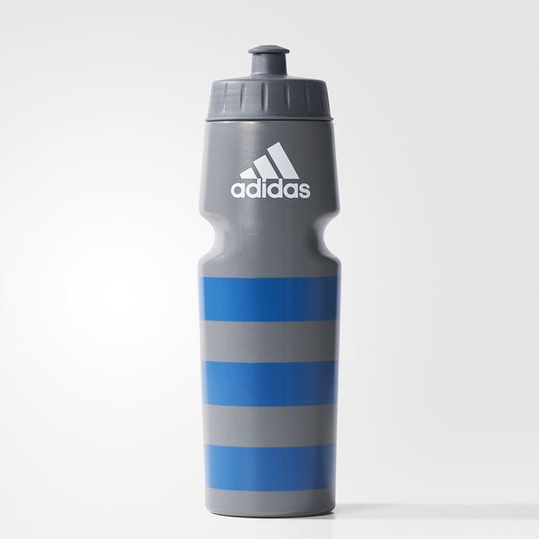 Купить Бутылка для воды 0.75 л Ace Bottle серо-синяя Adidas (арт. 12935)