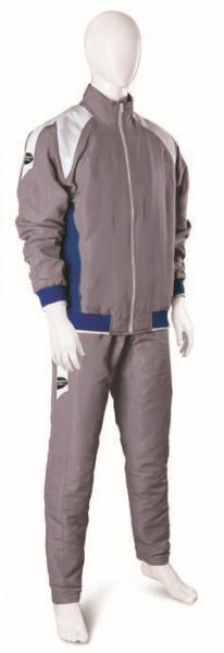 Спортивный костюм TSB-3744 Green Hill, серый Green HillСпортивные костюмы<br>Cпортивный костюм из мягкой синтетической ткани. Куртка с подкладкой, застёжка-молния, 2 кармана. На плечах белые вставки из плетеной ткани (дзюдоги). Брюки прямого кроя с подкладкой, 2 кармана по бокам, вставки из плетеной ткани (дзюдоги). Производство: Green Hill (Пакистан). Материал: полиэстер (микрочек). Цвет: серый/синий. Комплектация: куртка и брюки.<br><br>Размер INT: l