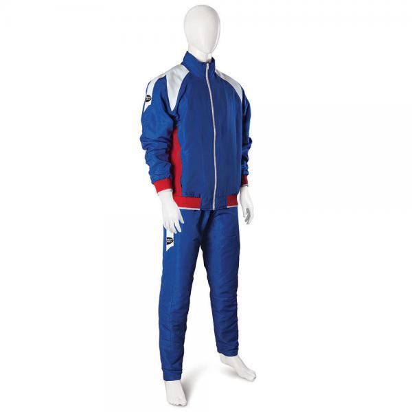 Спортивный костюм tsb-3744 Green Hill, Синий Green HillСпортивные костюмы<br>Cпортивный костюм из мягкой синтетической ткани. Куртка с подкладкой, застёжка-молния, 2 кармана. На плечах белые вставки из плетеной ткани (дзюдоги). Брюки прямого кроя с подкладкой, 2 кармана по бокам, вставки из плетеной ткани (дзюдоги). Производство: Green Hill (Пакистан). Материал: полиэстер (микрочек). Цвет: синий. Комплектация: куртка и брюки.<br><br>Размер INT: l