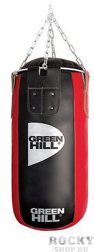 МЕШОК БОКСЕРСКИЙ 100*45, ДВОЙНАЯ НАТУРАЛЬНАЯ КОЖА, 50 КГ Green HillСнаряды для бокса<br>Двойная натуральная кожа высшего качества<br><br>100 см высота, 45 см диаметр мешка<br><br>Цепи и кольцо для карабина входят в комплект<br><br>Масса 50 кг<br><br>Набивка резиновая крошка/ветошь<br>