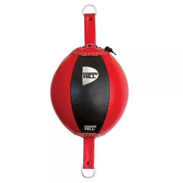 Пневмогруша на растяжках Green Hill BETA Green HillСнаряды для бокса<br>Пневмогруша на растяжках Green Hill BETA - отличный снаряд для развития скорости, точности и серийности ударов руками. Подходит для спортсменов любого уровня подготовки. Можно использовать как для залов, так и для дома. Сделана из натуральной кожи. Растяжки в комплект не входят.<br>